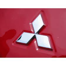 mitsubishi emblem mitsubishi chrome three diamond badge mach v motorsports