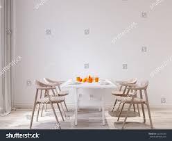 Dining Room Wall Spring Morning Mock Wall Dining Room Stock Illustration 622242389