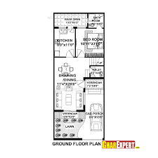 50 Square Meters To Feet House Plan For 20 Feet By 50 Feet Plot Plot Size 111 Square Yards