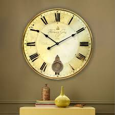 silent wall clocks wholesale 34cm vintage silent round large wood kitchen wall clock
