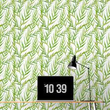 watercolor green leaves removable wallpaper tile