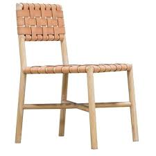Woven Chairs Dining Leather Woven Chair Skygatenews