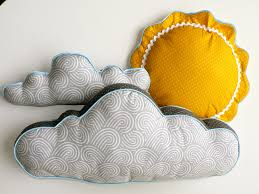 sun and cloud pillows by cecilclyde via etsy baby shower ideas