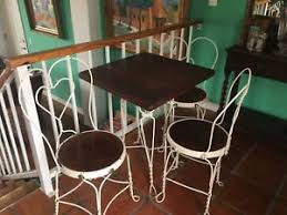 ice cream table and chairs antique oak ice cream parlor table and chairs ebay