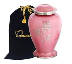 urn for ashes memorials4u avondale pink pearl brass cremation urn for human