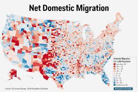 New York Times Census Map by Census County Domestic Migration Map Business Insider