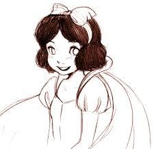 free sketch 05 snow white ruby chan deviantart