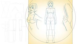 photoshop tutorials u003e drawing female proportions and surface