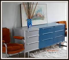 the turquoise iris vintage modern hand painted furniture dresser