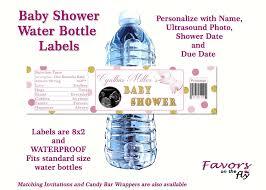 amazon com pink u0026 gold princess baby shower water bottle labels