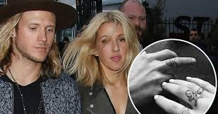 ellie goulding and dougie poynter get matching tattoos in their