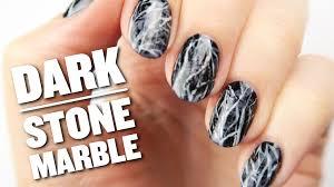 Diy Easy Halloween Drag Marble Nails Design Cute Dry Nail Art by Dark Stone Marble Nail Art Design Youtube