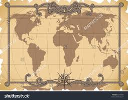 Old Map Background Vector Illustration Old Map Background Stock Vector 6160384