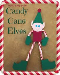 elves small gifts canes and elves