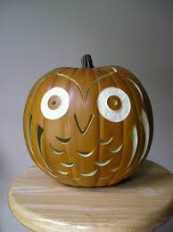 carved owl pumpkin for fall decorating by purpleinkgraphics