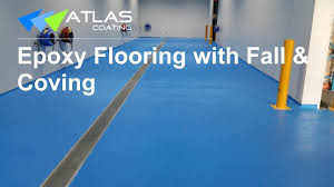 Epoxy Flooring Anti Slip Epoxy Flooring With Fall U0026 Coving Youtube