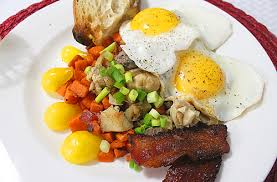 thanksgiving leftovers turkey sweet potato hash with