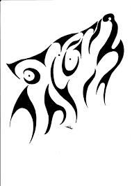 howling wolf tribal by vlindertje235 on deviantart