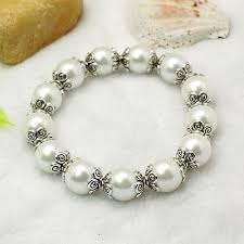 pearl bracelet elastic images Carnival jewelry glass pearl stretchy bracelets with tibetan jpg