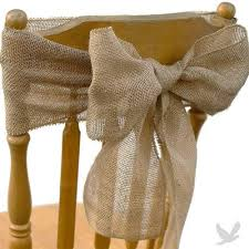 yellow chair sashesaffordable wedding favors burlap chair sash for vintage outdoor and