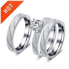 zircon engagement rings matte titanium grooved zircon engagement rings set