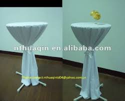 High Bistro Table Polyester Highboy Tablecloth High Bistro Elastic Bar Table Cover