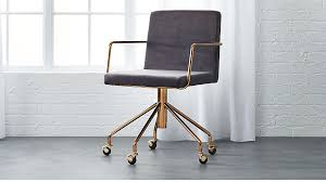 Accent Desk Chair Rouka Velvet Office Chair In Accent Chairs Reviews Cb2
