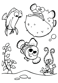 Finding Nemo Coloring Pages Touch Jelly Fish Coloring Page Finding Nemo Color Pages