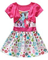 amazon com my little pony girls u0027 dress with ruffles and wings