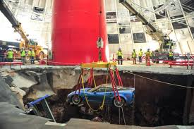 where is the national corvette museum national corvette museum sinkhole filled repairs continue