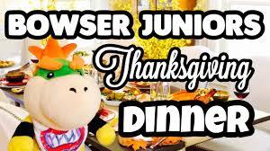 mario plush bowser juniors thanksgiving dinner
