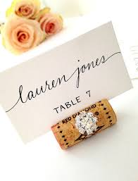 table top place card holders wine cork place card holders a beautiful 12mm gemstone adds perfect
