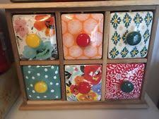 tea drawer the pioneer woman flea market 6 drawer spice tea boxes country