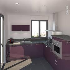 cuisine couleur aubergine cuisine en l couleur aubergine aux lignes contemporaines plan de