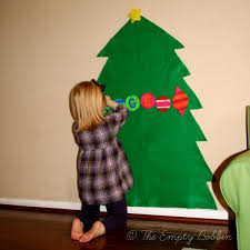 large felt christmas tree keep kids entertained for hours