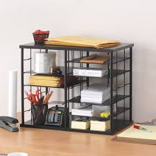 modern desk accessories rubbermaid 1738583 12 slot organizer mdf desktop sorter 21 x 11