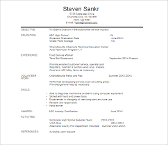 Auto Mechanic Resume Sample by Automobile Resume Templates Free Word Pdf Documents Creative