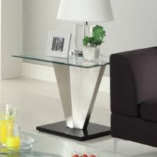 Glass End Tables Chrome End Tables Foter
