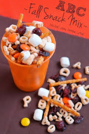 abc fall snack mix a snack that the can play with