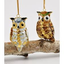 white owl ornaments wayfair