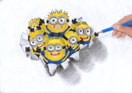 minion 3d drawing by elias16 on deviantart