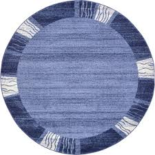 light blue round area rug unique loom del mar light blue 6 ft x 6 ft round area rug 3121522
