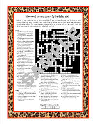 personalized printable crossword puzzle featuring fun facts
