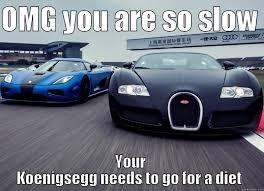 Bugatti Meme - koenigsegg vs bugatti quickmeme