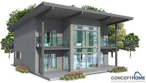 modern home plan ch62 oriented towards view