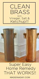 clean brass with home remedies that work ketchup remedies and