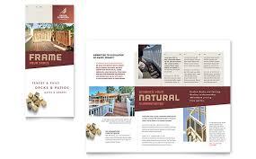 decks u0026 fencing brochure template word u0026 publisher