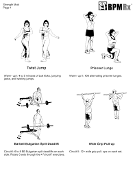 Squat Deadlift Bench Press Workout Circuit Training Workout Split Deadlifts And Bench Dips Bpm Rx