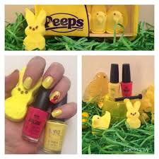 fun easter manicures inspired by marshmallow peeps