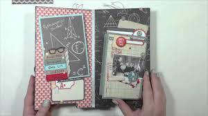 school memories album scrapbook mini album school memories 5 5 x10 chipboard album